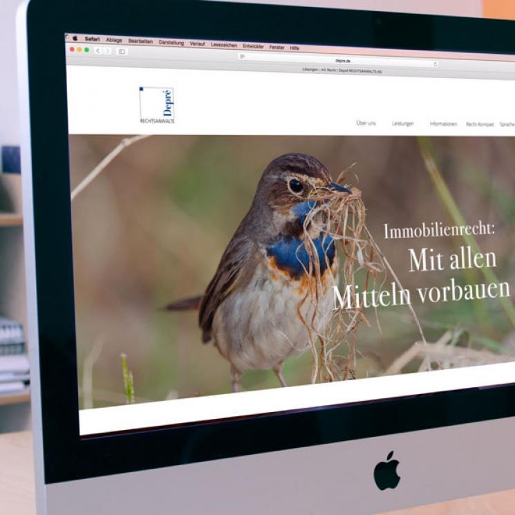 Depré RECHTSANWALTS AG Website