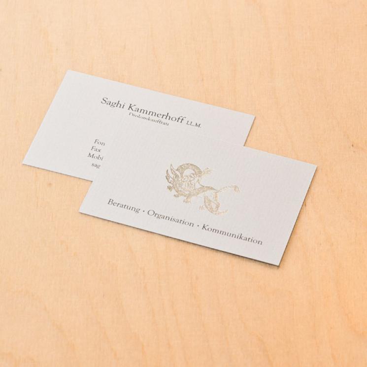 Saghi Kammerhoff Visitenkarte